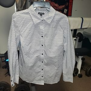 George Large black and white button up blouse